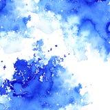 Blå vattnig illustration Färgpulverteckning Royaltyfri Fotografi