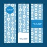 Blå vektor och vita vertikala snöflingaband Arkivbild