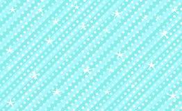 Blå vektorbakgrund med band och prickar Gullig ungemintkaramellbakgrund för för garnering parti flickaktigt Arkivfoto