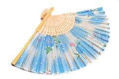 blå ventilatorhand Royaltyfri Foto