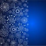 Blå vertikal julbakgrund Royaltyfria Bilder