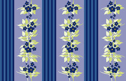 blå victorianwallpaper stock illustrationer
