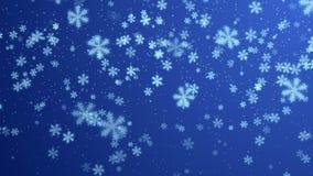 Blå vinterbakgrund royaltyfri illustrationer