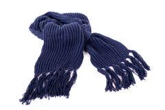 Blå vinterhalsduk Arkivbild