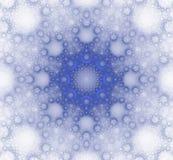Blå vintertextur i form av en fractal Royaltyfri Bild