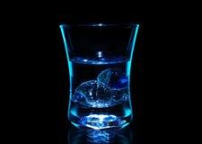 blå vodka royaltyfri fotografi