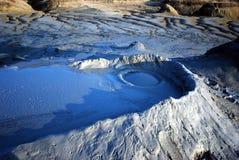 blå vulkan Royaltyfri Bild