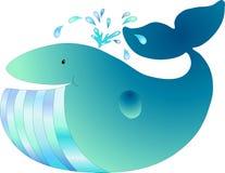 blå wale Arkivbild