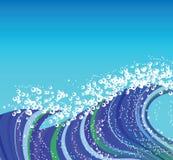 blå wave Arkivbilder