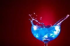 blå wave Arkivfoto