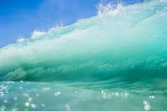 blå wave Arkivfoton