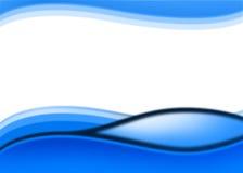 blå wave för bakgrund Arkivbilder