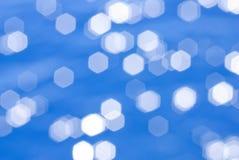 blå wave för djupt hav för bokeh Royaltyfri Bild