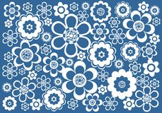blå white för bakgrund Royaltyfri Bild