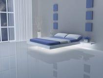 blå white för sovrum Arkivbild