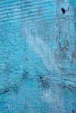 Blå wood bakgrundstextur för tappning Gammalt målat bräde Royaltyfri Bild
