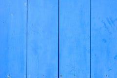 Blå wood textur Arkivbilder