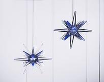 Blå xmas-stjärna Royaltyfri Fotografi