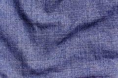 Blå yttersida för torkduk för färggrov bomullstvilltextil Royaltyfria Foton
