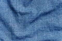 Blå yttersida för torkduk för färggrov bomullstvilltextil Fotografering för Bildbyråer
