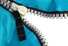 blå zipper royaltyfri foto