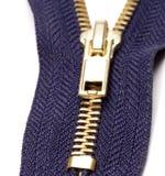 blå zipper Arkivbilder
