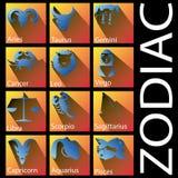Blå zodiak och skugga Arkivbild