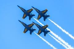 blåa änglar Arkivfoton