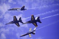Blåa änglar på Kaneohe Airshow Royaltyfri Fotografi