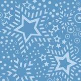 blåa åtskilliga stjärnor Royaltyfri Foto