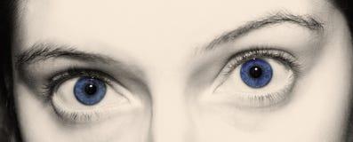 blåa ögon Royaltyfria Bilder