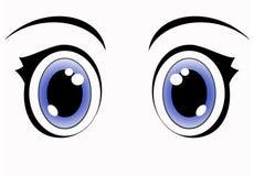 blåa ögon för anime Arkivfoton