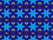 Blåa abstrakta sömlösa modellbakgrunder Arkivfoton