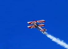Blåa Angel Airshow på rödhakar AFB Royaltyfria Bilder