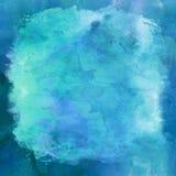 Blåa Aqua Teal Watercolor Paper Background royaltyfri fotografi