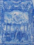 blåa azulejos Arkivbilder