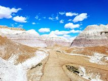 Blåa Badlands Arizona arkivbilder
