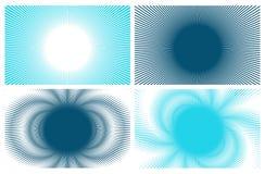 4 blåa bakgrunder vektor illustrationer