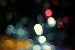 Blåa bakgrunder för bokehabstrakt begreppljus Royaltyfria Foton