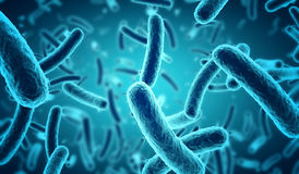 blåa bakterier royaltyfri illustrationer