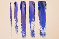 Blåa band för målarfärg Arkivfoto