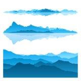 blåa berg Royaltyfri Fotografi