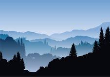 blåa berg Fotografering för Bildbyråer