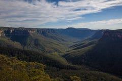 Blåa berg av Australien Arkivfoto
