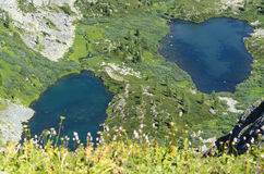 Blåa bergsjöar Royaltyfria Foton