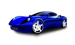 blåa bilsportar Royaltyfri Bild