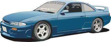 blåa bilsportar Arkivfoto