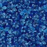 blåa blom- blommor för bakgrund Vektor Illustrationer