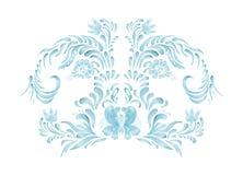 Blåa blom- ramvektorblommor Royaltyfri Fotografi