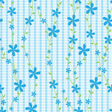 blåa blommalinjer modell stock illustrationer
